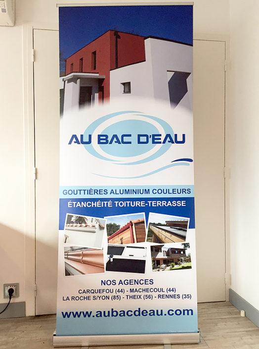 Enrouleur publicitaire pour Au Bac d'Eau à Nantes