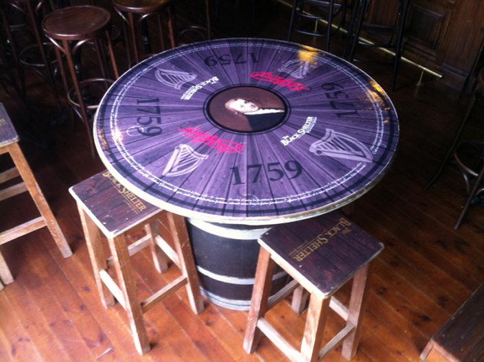 Décoration de table pour Restaurant, adhésif à la découpe pour The Black Shelter à Carquefou