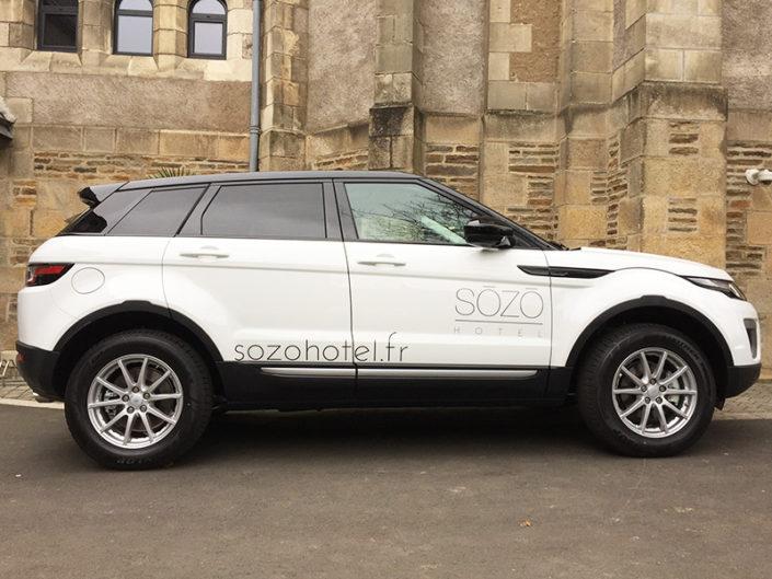 Adhésif sur voiture pour Sozo Hotel à Nantes (44)