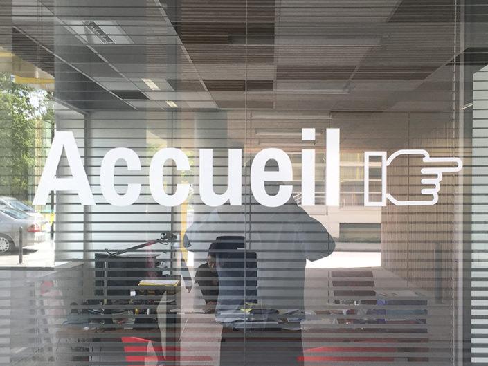 """Adhésif pour """"Accueil"""" sur Carquefou"""