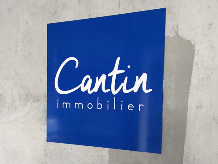 Adhésif pour parking extérieur pour Cantin Immobilier Avenue de la Bouvadière Saint Herblain Nantes