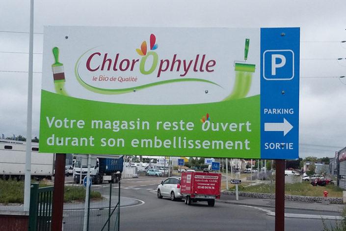 Adhésif pour panneau de parking - Magasin Chlorophylle à Rezé (44)