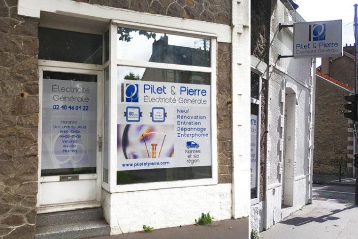 Adhésif mat micro-perforé, vitrophanie lumineux à Nantes pour Pilet & Pierre