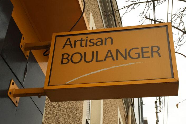 Enseigne de magasin lumineuse pour un artisan Boulanger, Boulevard Dalby à Nantes