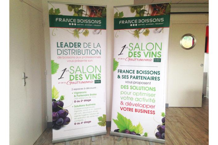 Kakémono 850x2000mm pour le 1er Salon des Vins de Loire Atlantique pour France Boissons à Nantes
