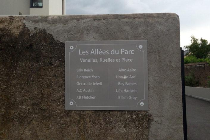 Dibond Cabinet Bras, syndic de copropriétés, Les allées du Parc, Nantes Paridis