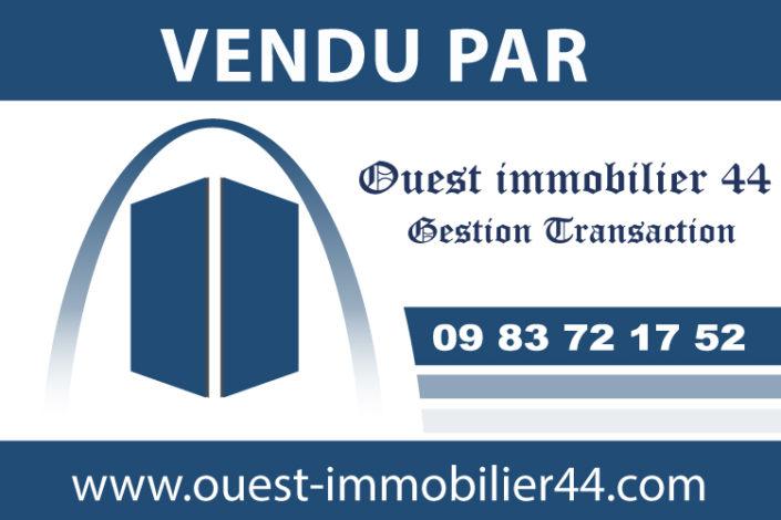 Panneau promotionnel en Dibond® de vente d'un bien - pour une agence immobilière à Nantes