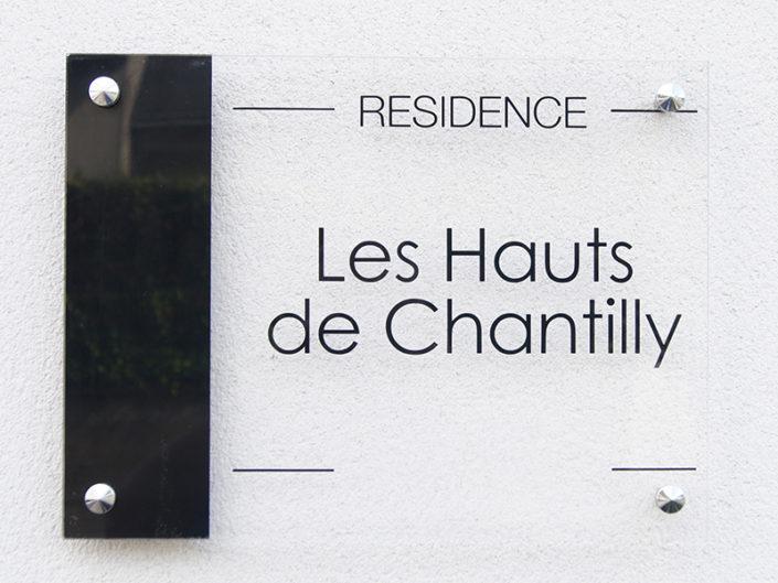 Plexiglas® sur entretoise pour une résidence à Nantes