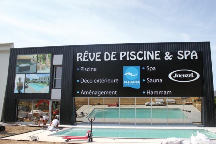 Enseigne pour la société Rêve de Piscine & SPA de 8m2