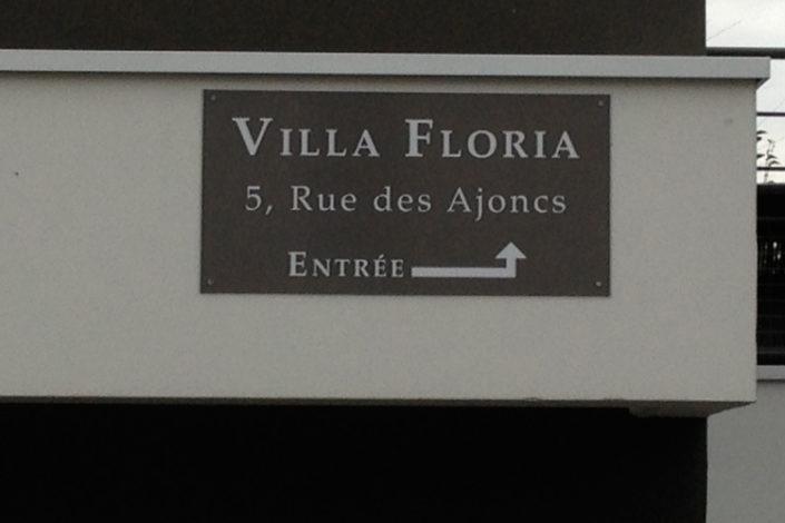 Nom de résidence et fléchage pour la Villa Floria à Saint Herblain 44