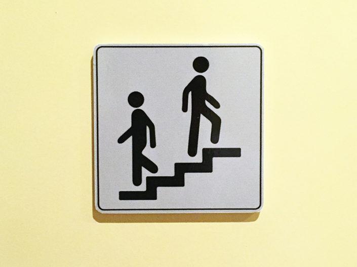Pictogramme signalétique de porte Escalier Talensac à Nantes