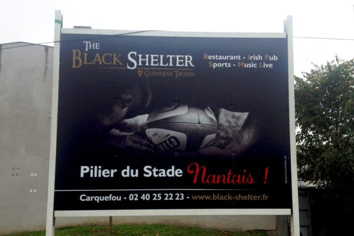 Panneau publicitaire 4X3 (12m2), Stade Nantais Rugby Nantes