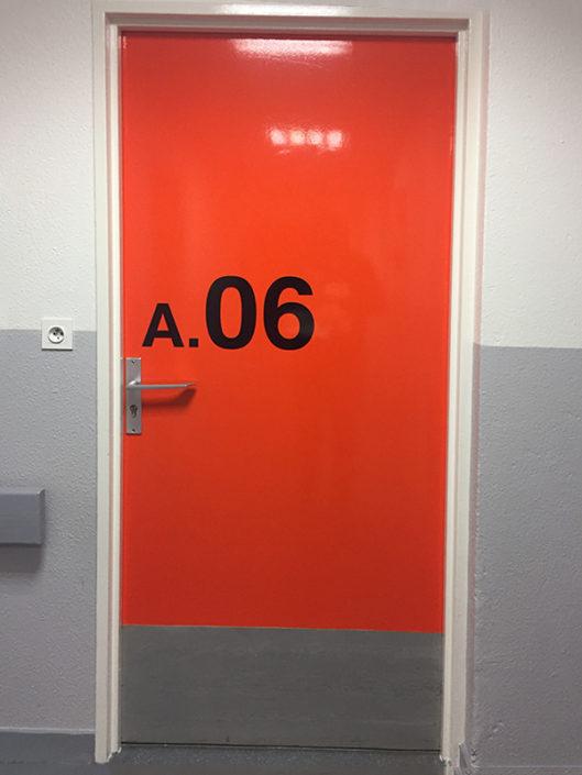 Adhésif décoratif, numéro de chambre pour un hôpital