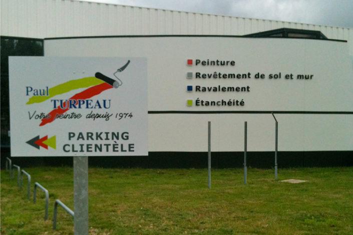 Signalétique directionnelle pour le parking de Paul Turpeau