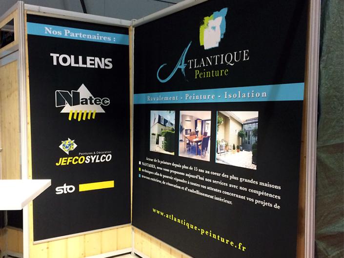 Stand pour Atlantique Peinture pour le Salon de l'Habitat à La Beaujoire à Nantes