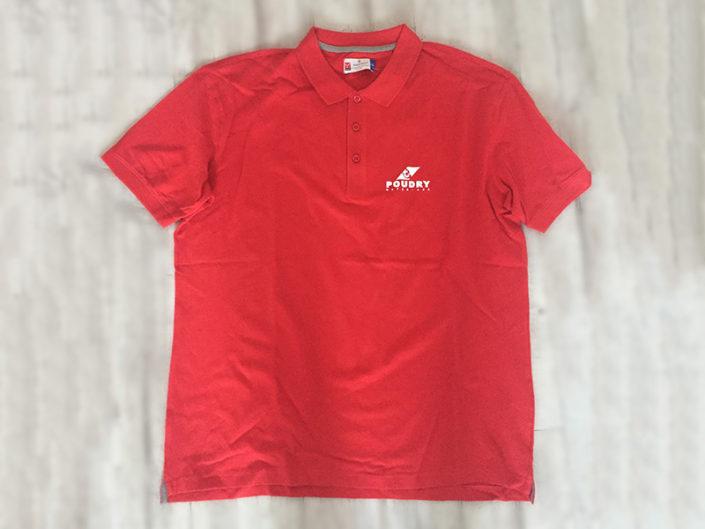 Impression sur T-Shirt/Polo pour la société Poudry Matériaux à Nantes (44)