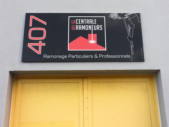 Panneau dibond pour la Centrale des Ramoneurs à Nantes (44)