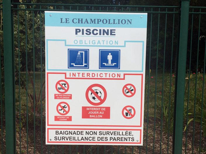Panneau réglementaire de piscine pour une résidence privée à Nantes (44)