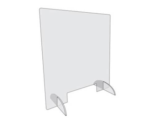 Plaque polycarbonate avec pieds Longueur 80 x Hauteur 80 cm - Protection de caisse contre le Covid-19 / Coronavirus à Nantes (44)