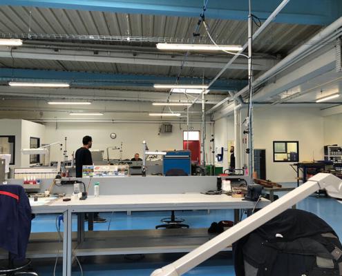 Film de protection transparent avec montage sur mesure Polysoude, grand format, Nantes Est - Label Enseigne Nantes